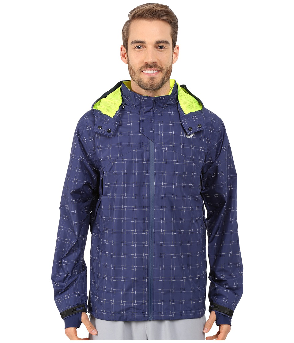 ASICS - Storm Shelter Jacket (Indigo Blue) Men's Coat