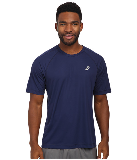 ASICS - Short Sleeve Tee (Indigo Blue) Men's Workout