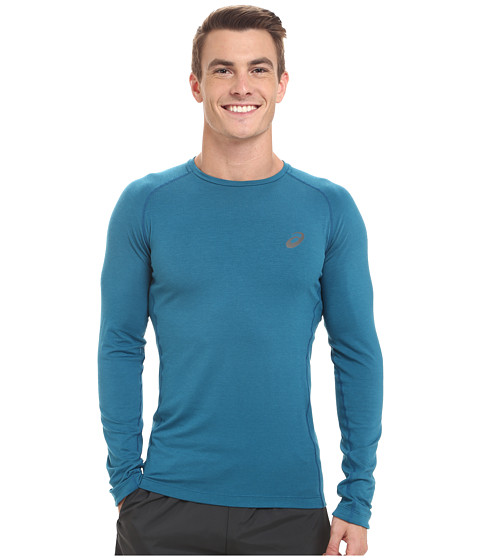 ASICS - Fujitrail Baselayer (Mosaic Blue) Men's Long Sleeve Pullover