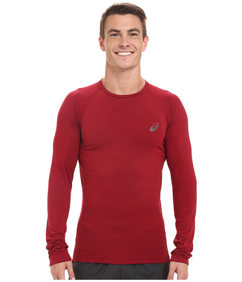 ASICS - Fujitrail Baselayer (Deep Ruby) Men's Long Sleeve Pullover
