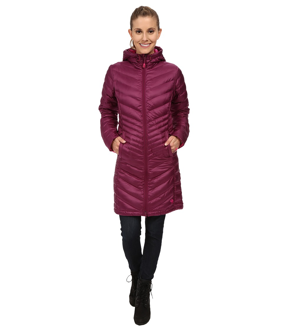 Mountain Hardwear - Nitrous Hooded Down Parka (Dark Raspberry) Women's Coat