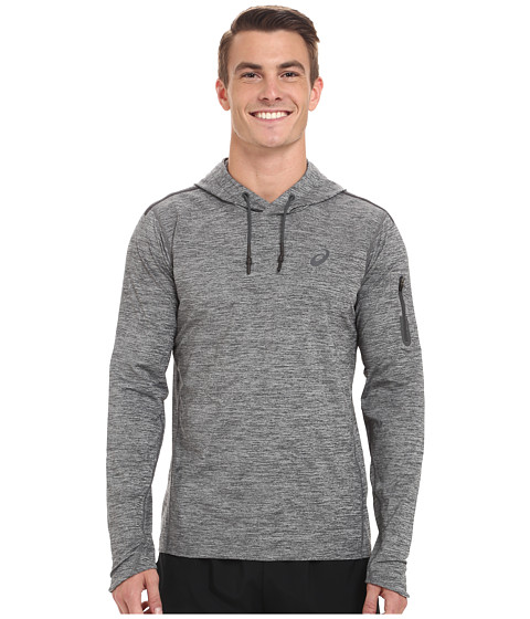 ASICS - Over Head Hoodie (Dark Heather Grey) Men's Long Sleeve Pullover