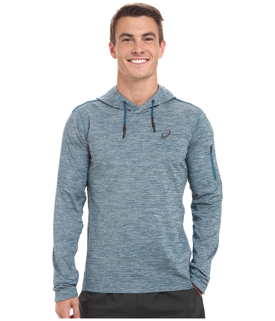 ASICS - Over Head Hoodie (Mosaic Blue Heather) Men's Long Sleeve Pullover