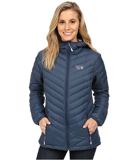 Mountain Hardwear - Micro Ratio Hooded Down Jacket (Zinc/Phantom Purple) Women