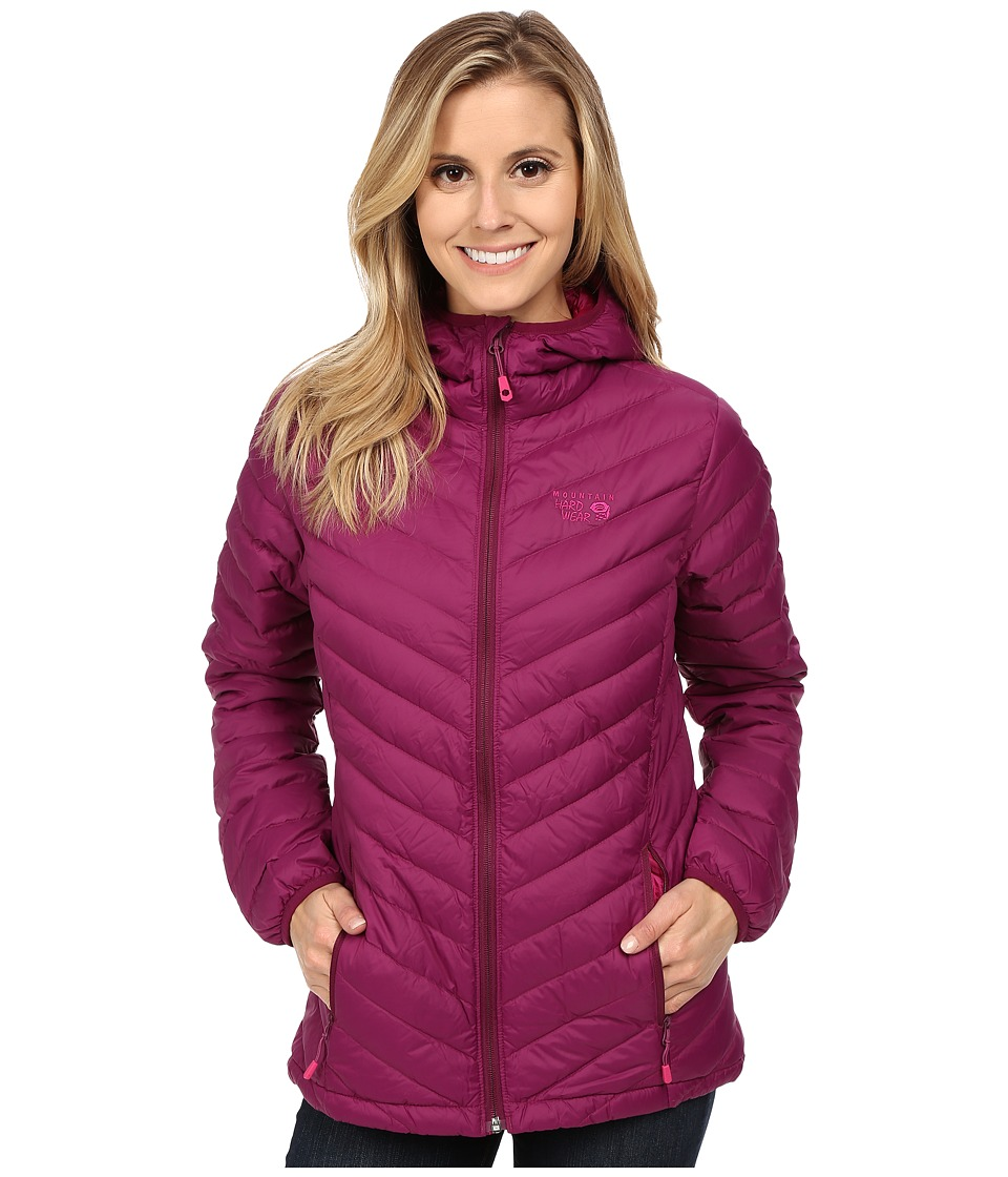 Mountain Hardwear - Micro Ratio Hooded Down Jacket (Dark Raspberry) Women's Jacket