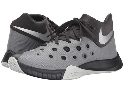 Nike - Zoom Hyperquickness 2015 (Tumbled Grey/Deep Pewter/Night Silver/Metallic Silver) Men's Basketball Shoes