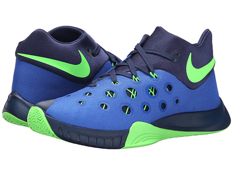 Nike - Zoom Hyperquickness 2015 (Game Royal/Midnight Navy/Green Strike) Men