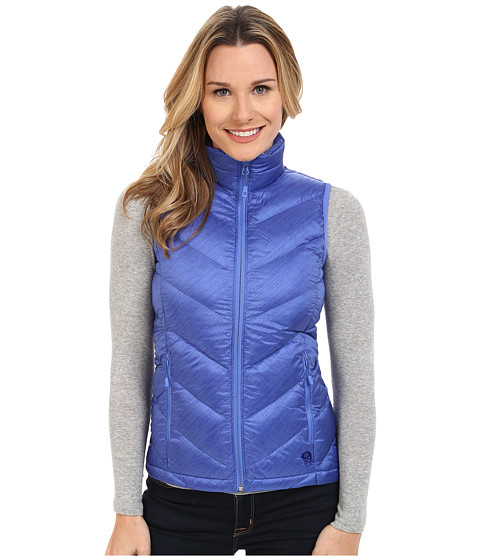 Mountain Hardwear - Ratio Printed Down Vest (Bright Bluet) Women's Vest
