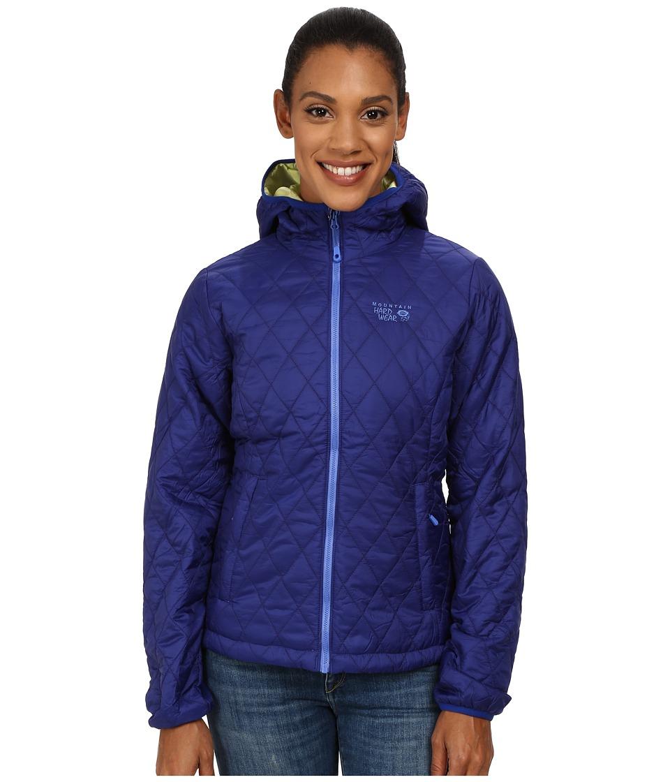 Mountain Hardwear - Thermostatic Hooded Jacket (Dynasty/Neon Light) Women