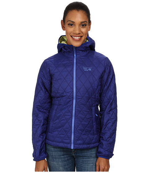 Mountain Hardwear - Thermostatic Hooded Jacket (Dynasty/Neon Light) Women's Coat