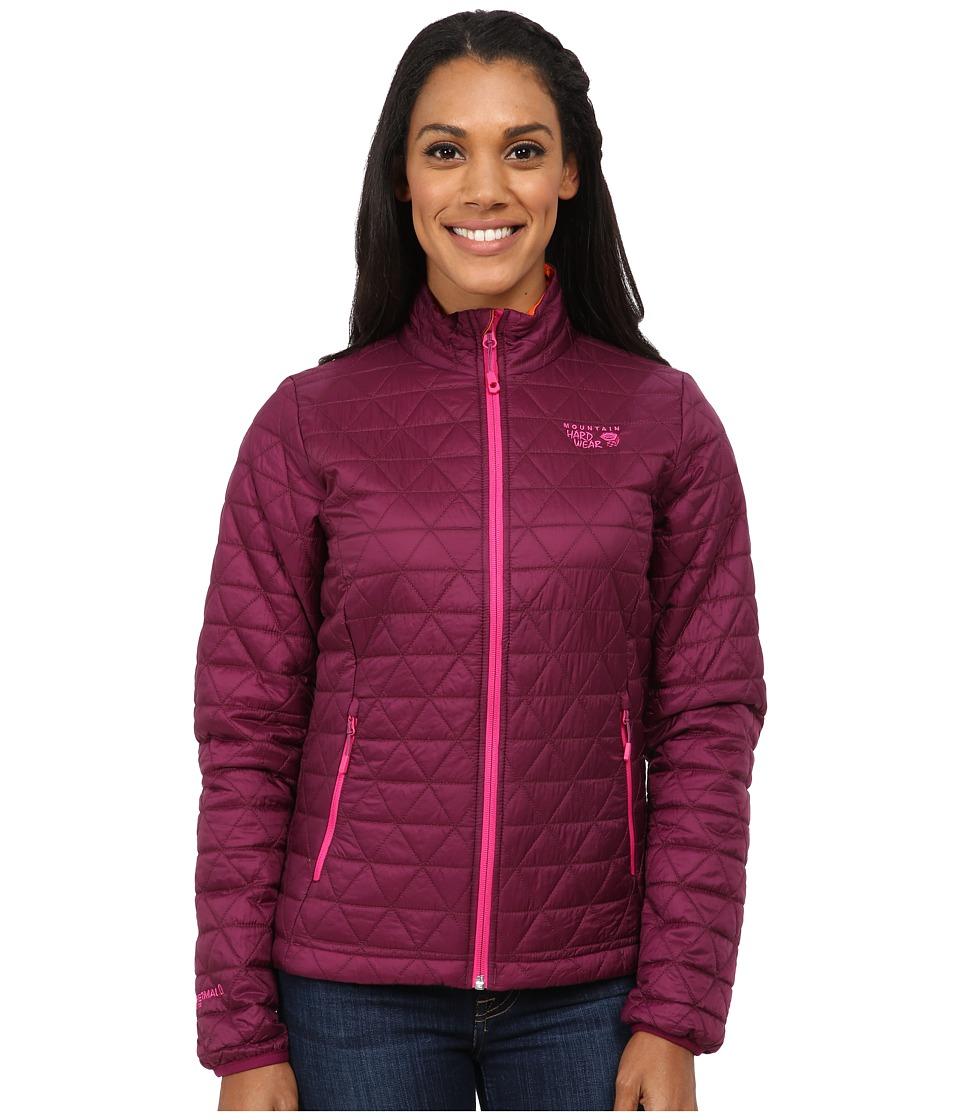 Mountain Hardwear - Micro Thermostatic Jacket (Dark Raspberry/Navel Orange) Women