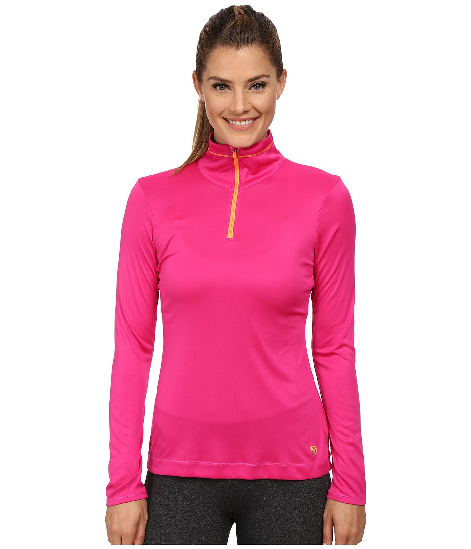 Mountain Hardwear - Wicked Long Sleeve Zip Tee (Haute Pink/Faded Orange) Women's Long Sleeve Pullover