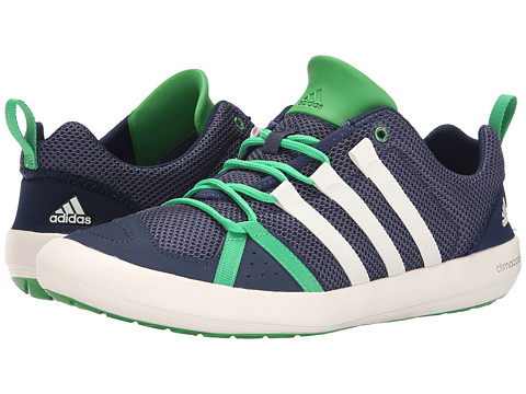 adidas Outdoor - Climacool Boat Lace (Midnight Grey/Chalk White/Signal Green) Men