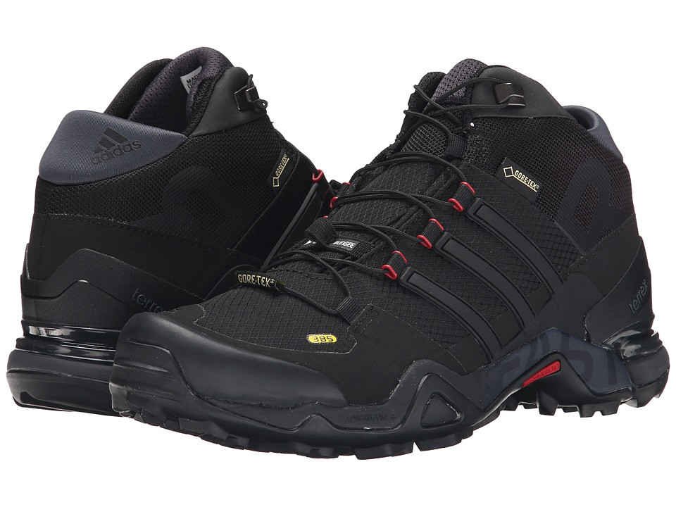 adidas Outdoor - Terrex Fast R Mid GTX (Black/Dark Grey/Power Red) Women's Hiking Boots