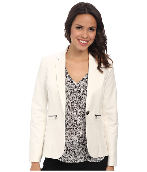 Adrianna Papell - One-Button Blake Blazer (Ivory) Women