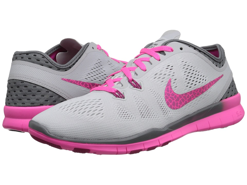 Nike - Free 5.0 Tr Fit 5 Breathe (Pure Platinum/Cool Grey/Pink Pow/Fireberry) Women's Cross Training Shoes