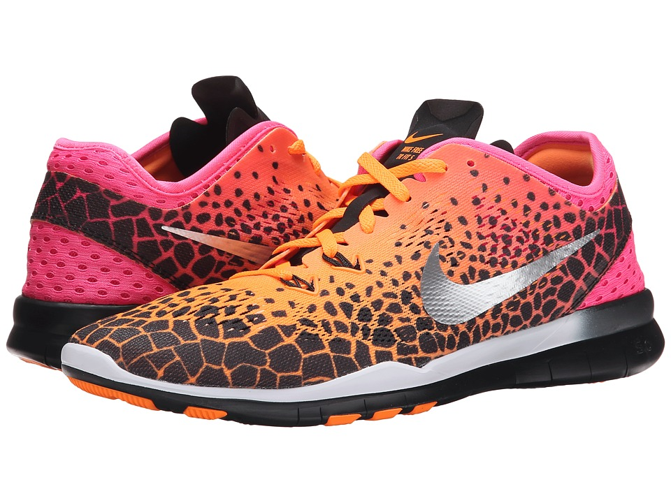 Nike - Free 5.0 TR Fit 5 PRT (Black/PinkPow/Bright Citrus/Metallic Silver) Women