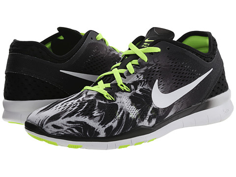 Nike - Free 5.0 TR Fit 5 PRT (Black/Volt/White) Women's Cross Training Shoes