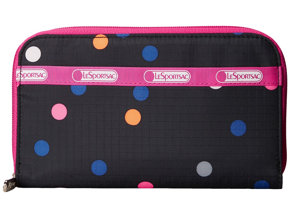 LeSportsac - Lily (Litho Dot Pink) Checkbook Wallet