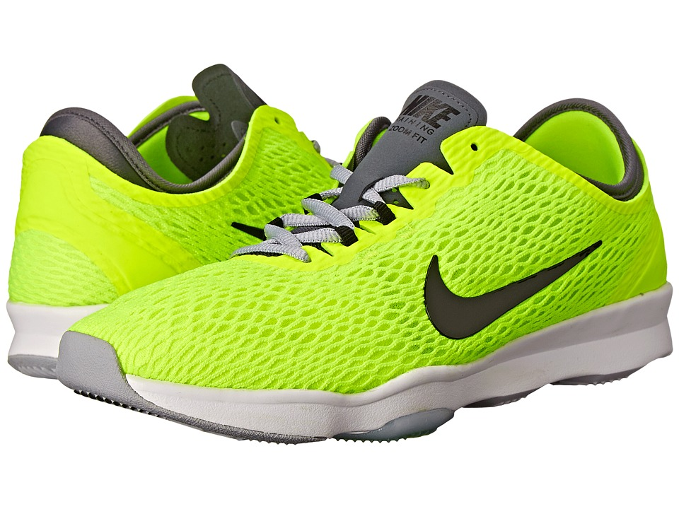 Nike - Zoom Fit (Volt/Dark Grey/White/Black) Women's Cross Training Shoes