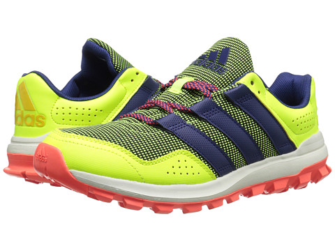 adidas Running - Slingshot Trail (Solar Yellow/Midnight Indigo/Solar Red) Women