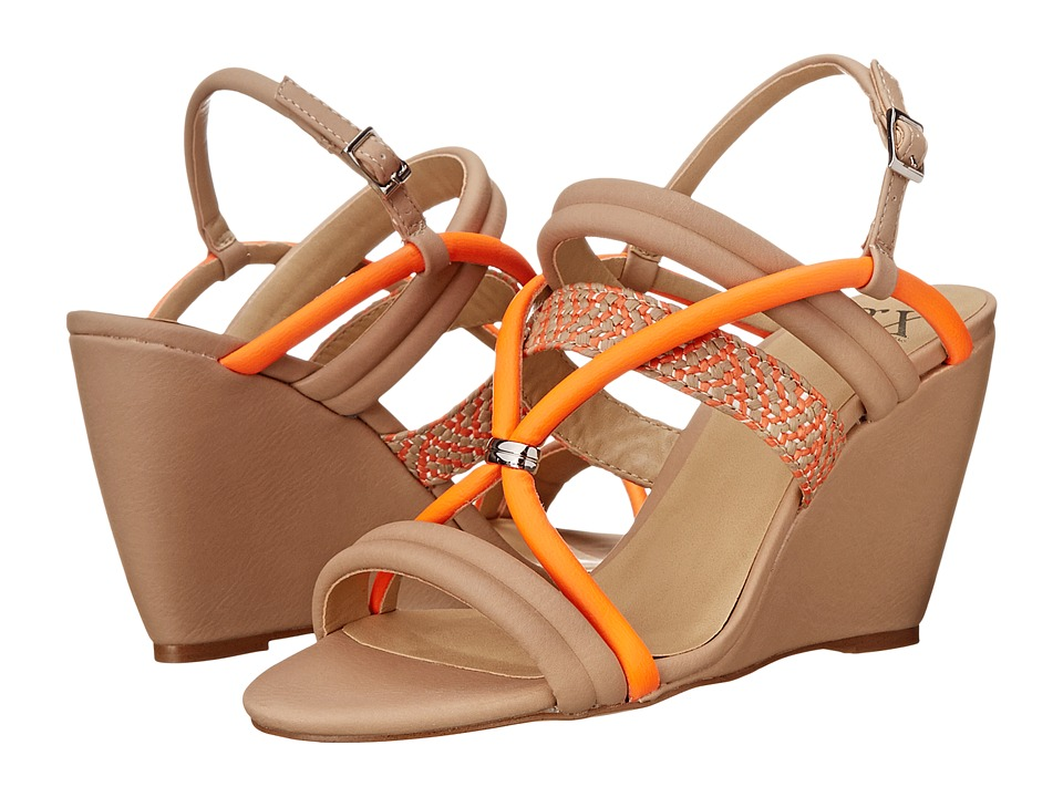 GX By Gwen Stefani - Abe (Nude/Orange Matte Vachetta/Woven) Women's Wedge Shoes
