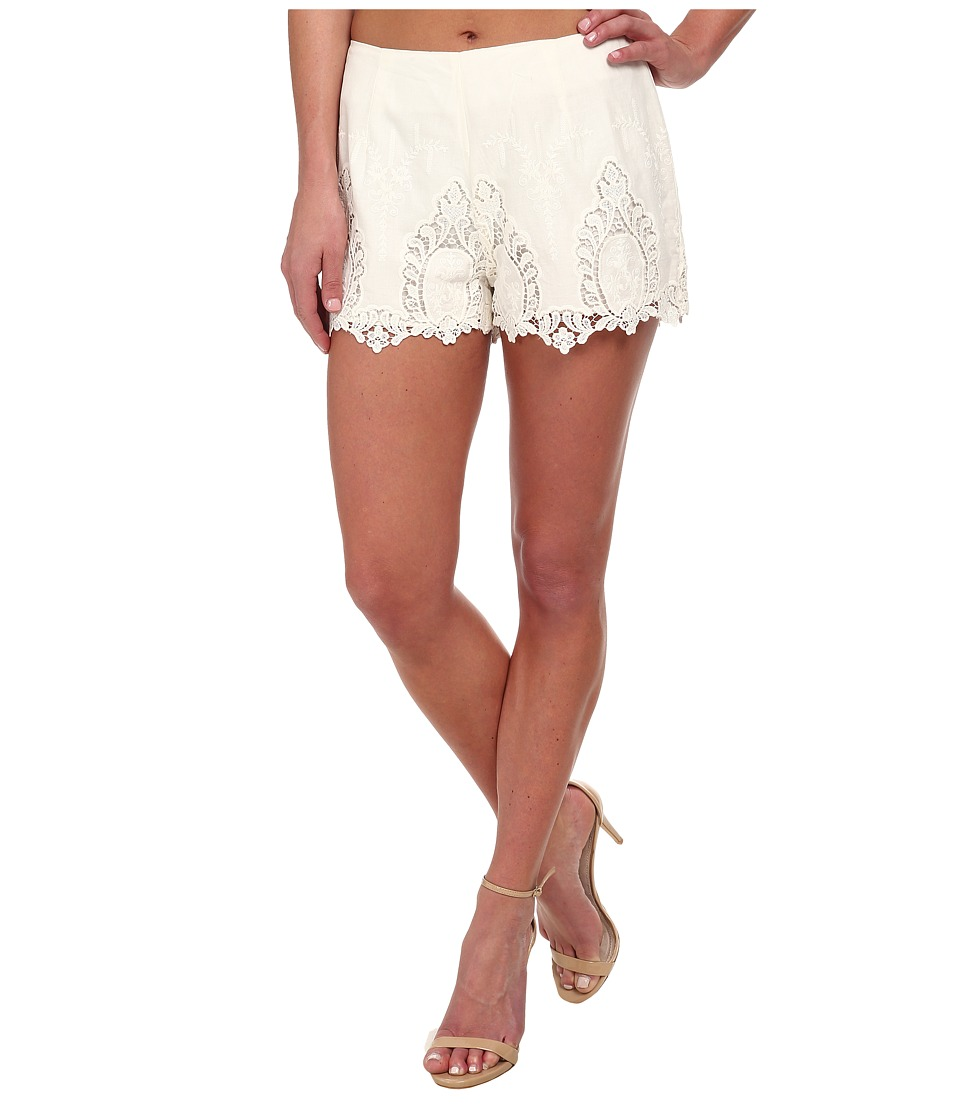 Bardot - Lace Shorts (White) Women's Shorts