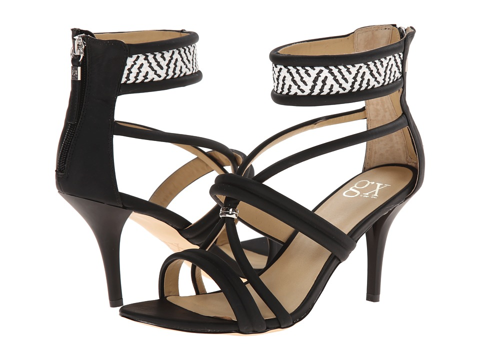 GX By Gwen Stefani - Adams (Black/White Matte Vachetta/Woven) High Heels