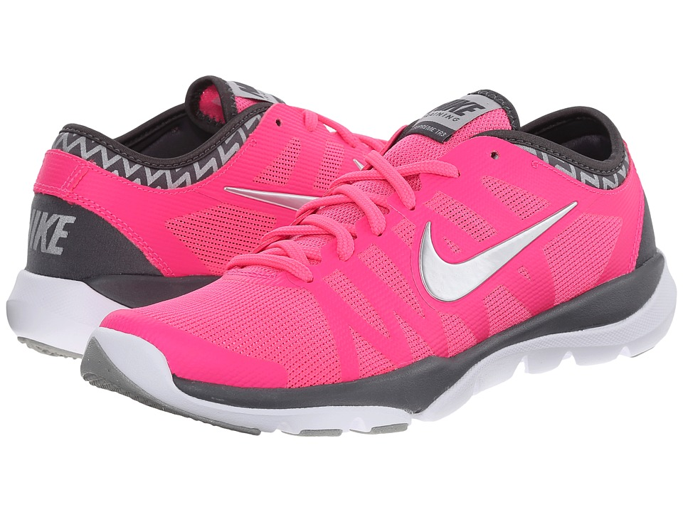 Nike - Flex Supreme TR 3 (Pink Pow/Cool Grey/White/Metallic Silver) Women's Cross Training Shoes