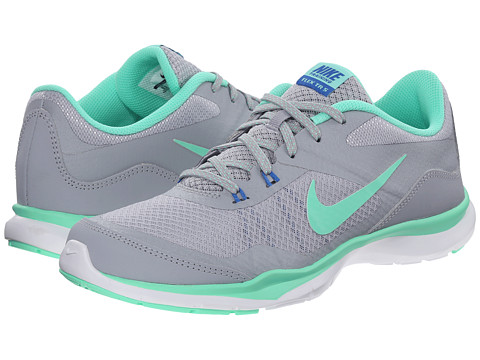 Nike - Flex Trainer 5 (Wolf Grey/Green Glow/Pure Platinum/Soar) Women's Cross Training Shoes
