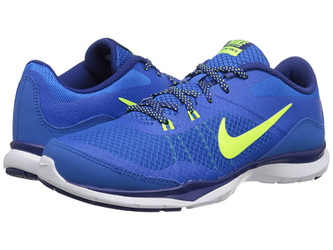 Nike - Flex Trainer 5 (Soar/Deep Royal Blue/White/Volt) Women