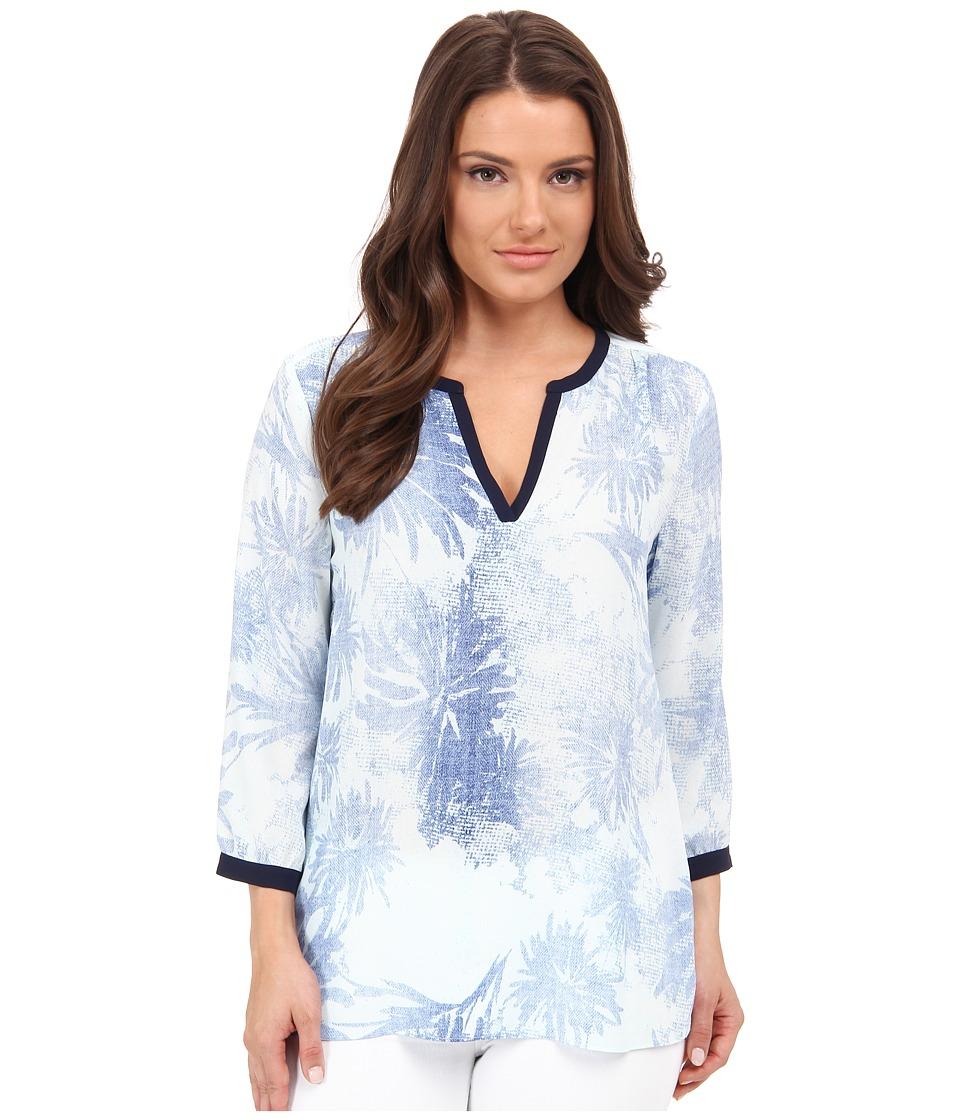 NYDJ Petite - Petite Key Item Tunic (Sunworn Floral) Women's Blouse