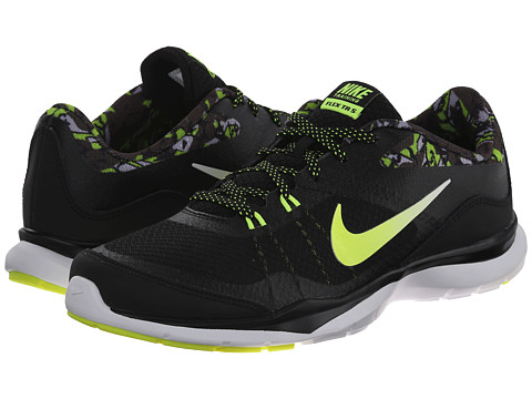Nike - Flex Trainer 5 Print (Black/Cargo Khaki/Wolf Grey/White) Women's Cross Training Shoes