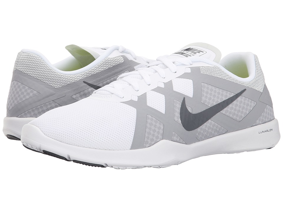 Nike - Lunar Lux TR (White/Wolf Grey/Volt/Dark Grey) Women's Cross Training Shoes