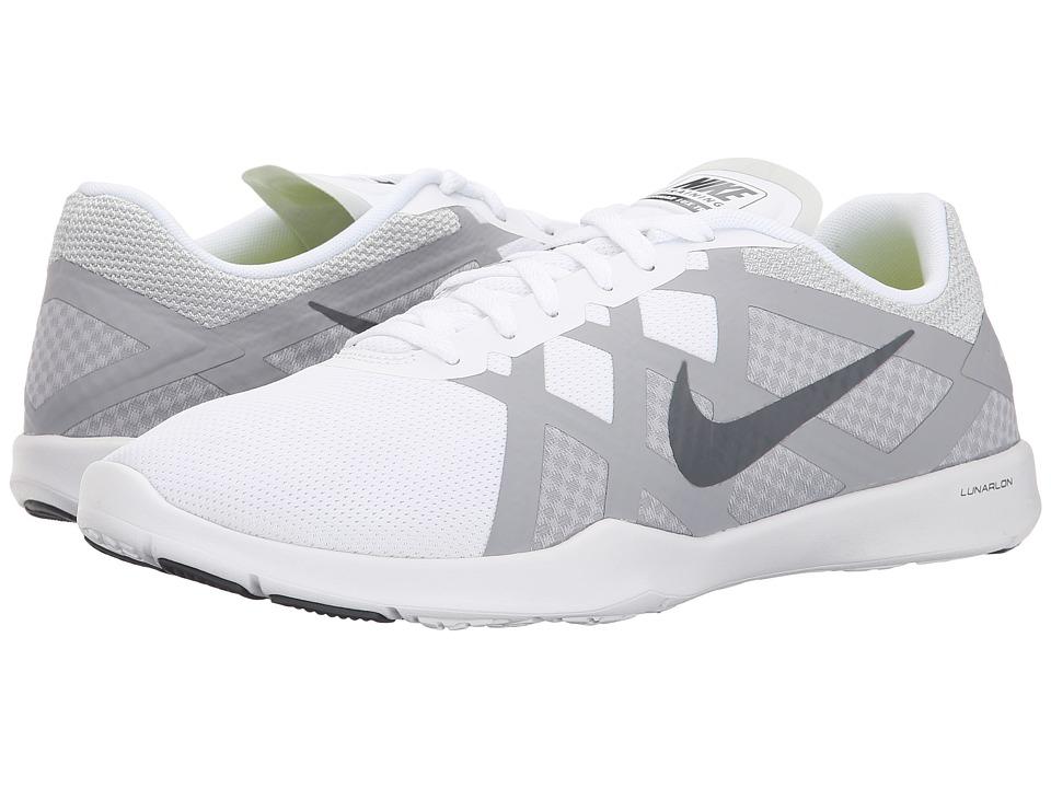 Nike - Lunar Lux TR (White/Wolf Grey/Volt/Dark Grey) Women's Cross Training Shoes
