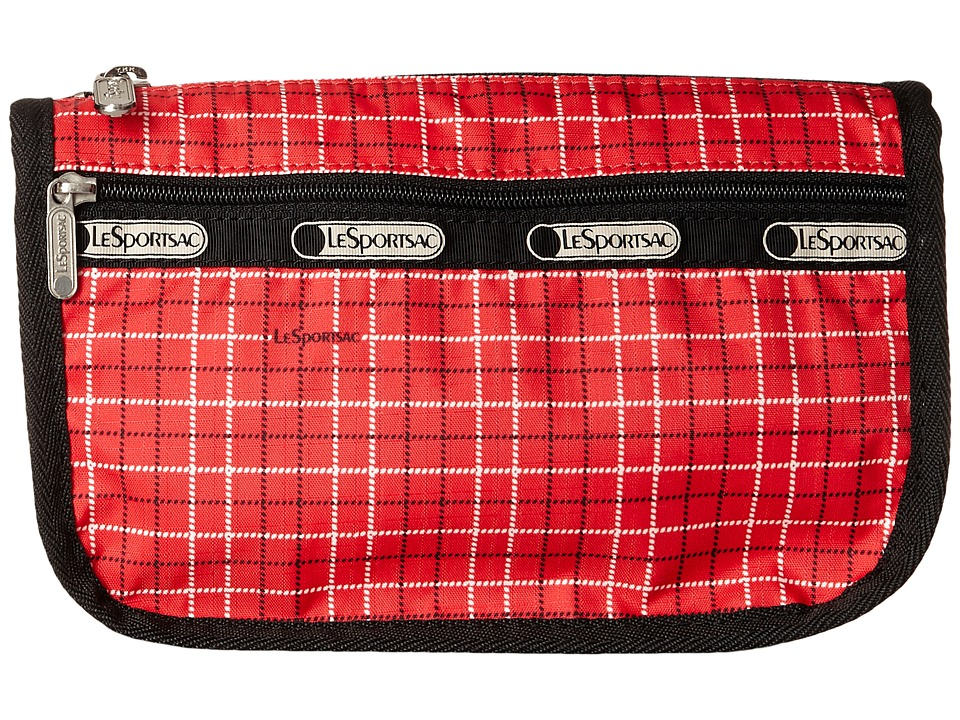 LeSportsac - Travel Cosmetic (Tattersal Red) Cosmetic Case