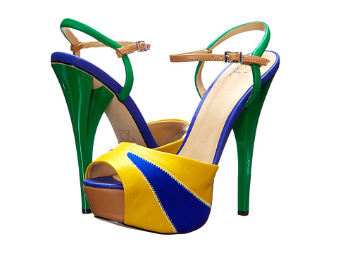 GX By Gwen Stefani - Aura (Yellow/Cobalt Matte/Neoprene) High Heels