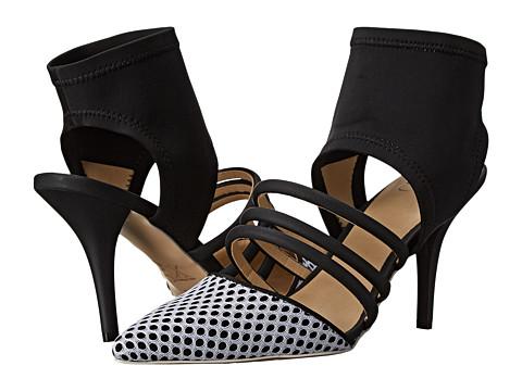 GX By Gwen Stefani - Avril (Black/White Matte/N. Mesh/Lycra) High Heels