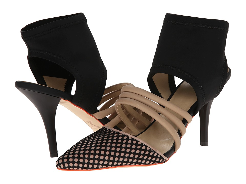 GX By Gwen Stefani - Avril (Nude/Black Matte/N. Mesh/Lycra) High Heels