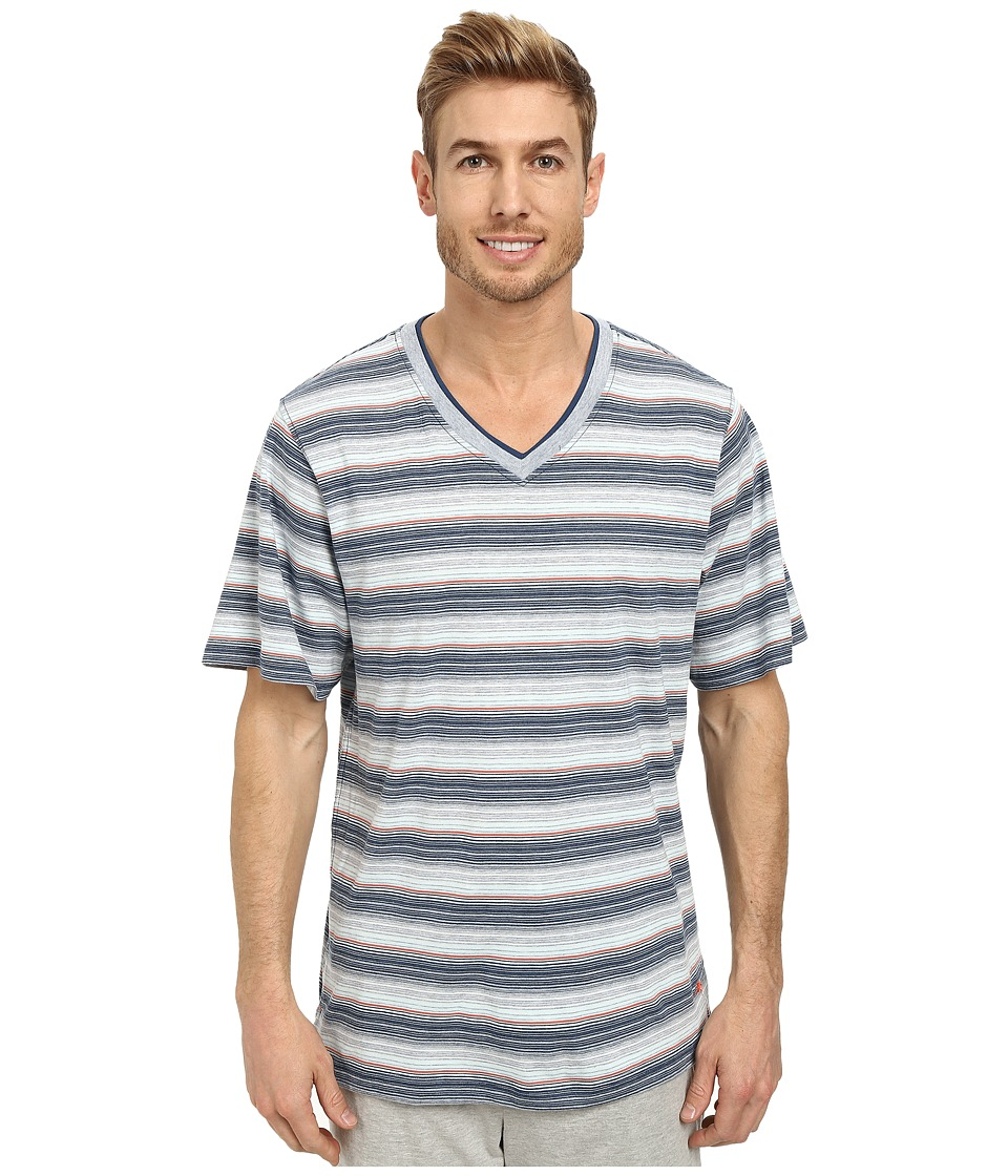 Tommy Bahama - Yarn Dyed Heather Stripe Tee (Multi) Men's T Shirt