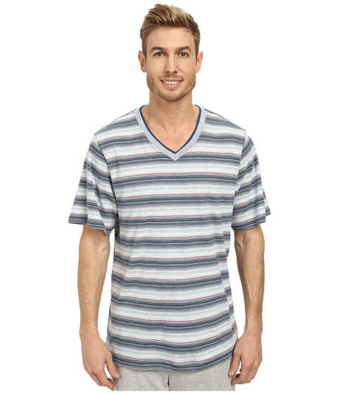 Tommy Bahama - Yarn Dyed Heather Stripe Tee (Multi) Men's T Shirt