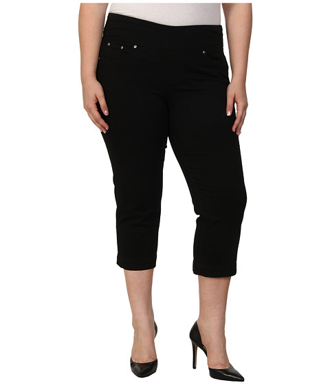 Jag Jeans Plus Size - Plus Caley Pull-On Crop Classic Fit in Black (Black) Women's Capri