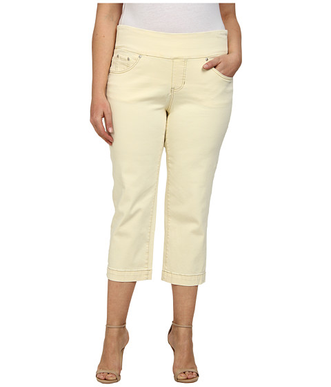 Jag Jeans Plus Size - Plus Caley Pull-On Crop Classic Fit in Custard (Custard) Women's Capri