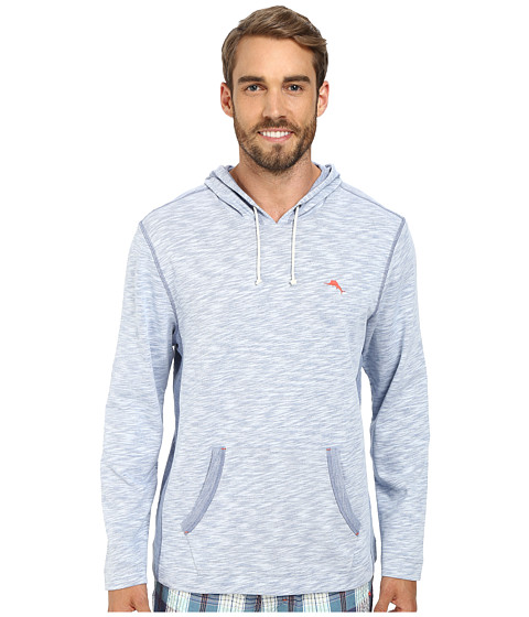 Tommy Bahama - Slub French Terry Long Sleeve Tee (Chambray 2) Men's Long Sleeve Pullover