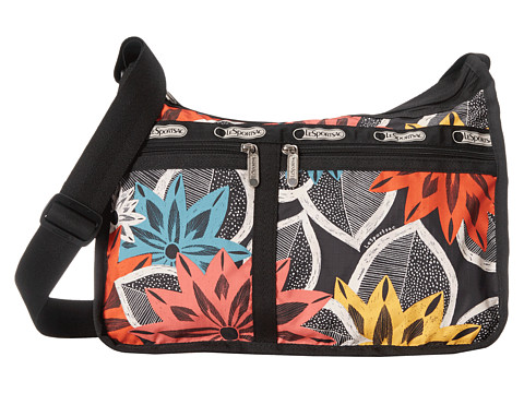 LeSportsac - Deluxe Everyday Bag (Caraway Floral) Cross Body Handbags