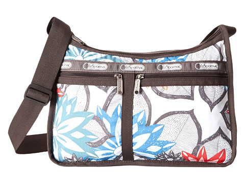 LeSportsac - Deluxe Everyday Bag (Caraway Floral Light) Cross Body Handbags
