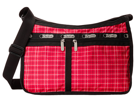 LeSportsac - Deluxe Everyday Bag (Tattersal Red) Cross Body Handbags
