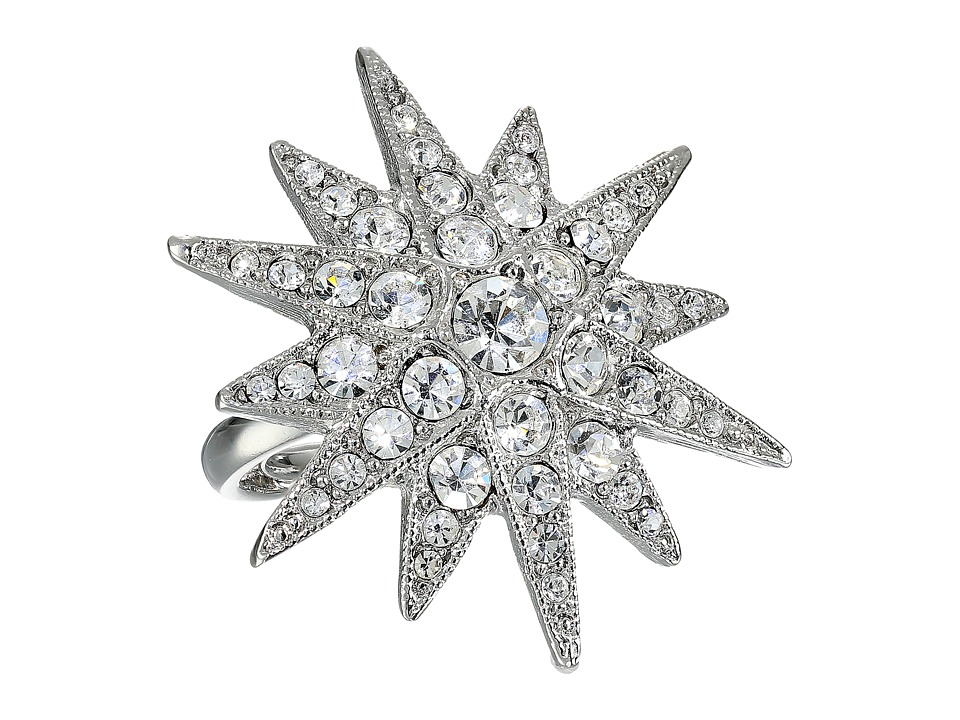 Kenneth Jay Lane - 7353RSC Ring (Rhodium/Rhinestone) Ring