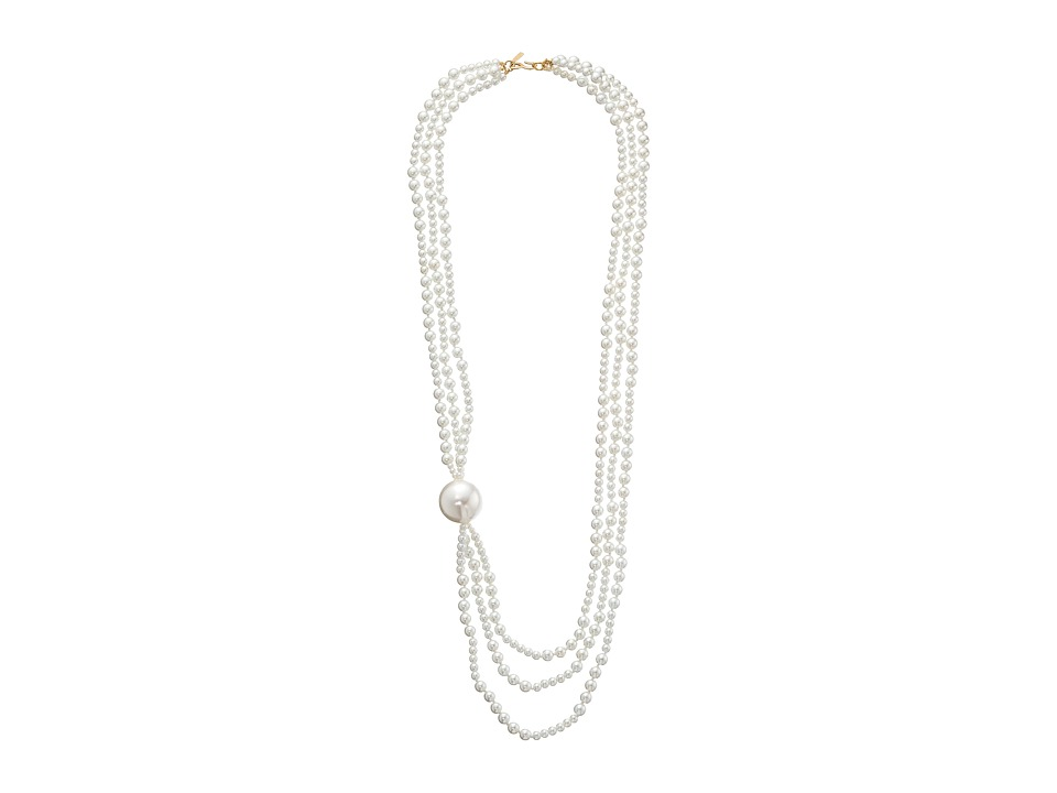 Kenneth Jay Lane - 3753N3WP Necklace (White Pearl) Necklace