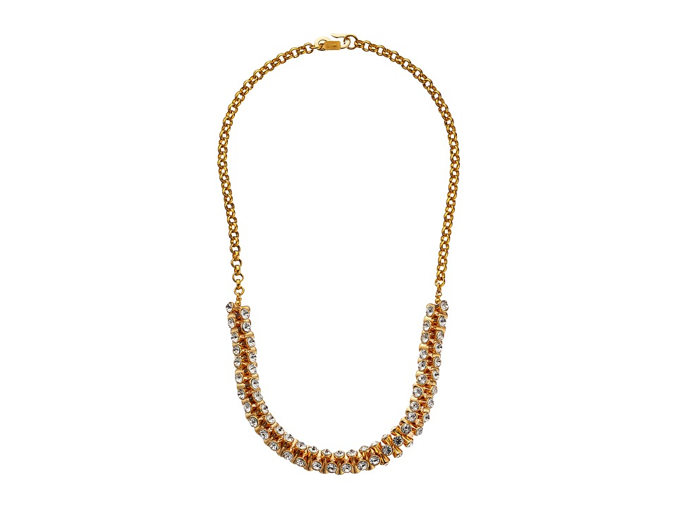 Kenneth Jay Lane - 9278NGC Necklace (Gold/Crystal) Necklace